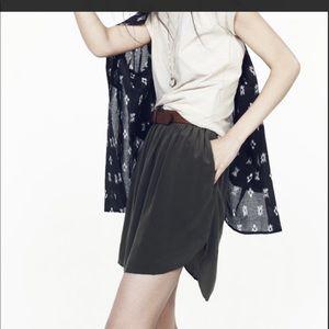 Madewell sungarden silk shirttail mini skirt Small